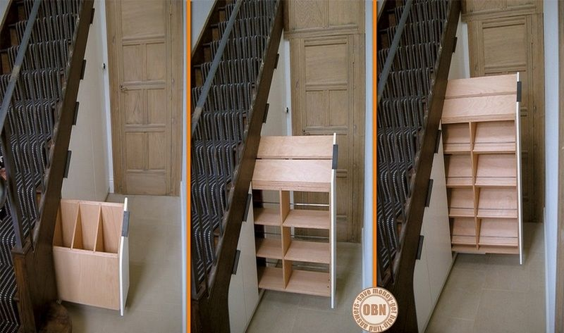 Under The Staircase Staircase Storage Inspiration