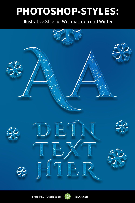 Photoshop Styles Illustrative Stile Fur Weihnachten Und Winter Photoshop Weihnachten Vorlagen Vorlagen