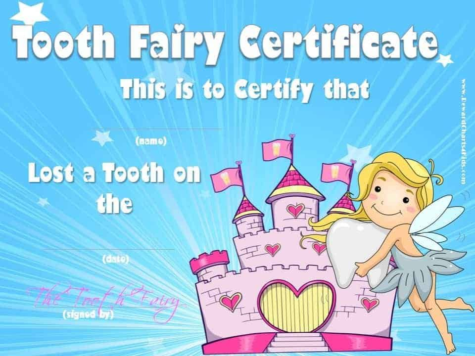 Tooth Fairy Certificate Template Free Best Template Ideas In 2020 Tooth Fairy Certificate Tooth Fairy Letter Tooth Fairy