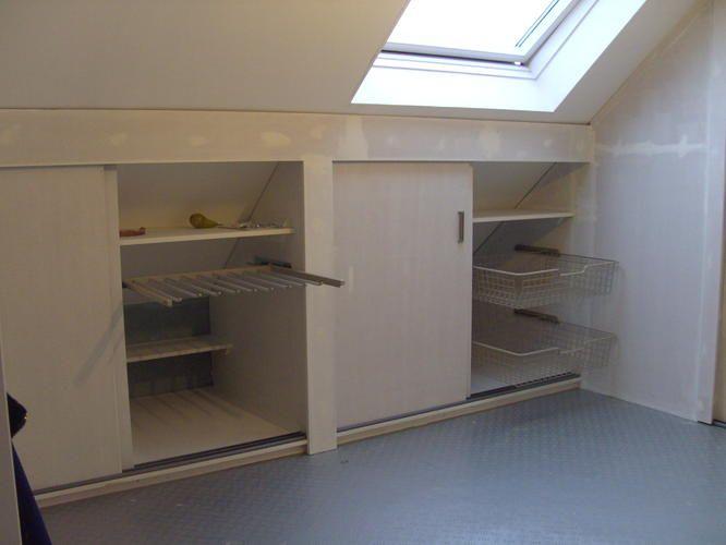 Kasten onder schuin dak maken google zoeken meubels pinterest zoeken - Amenager kast ...