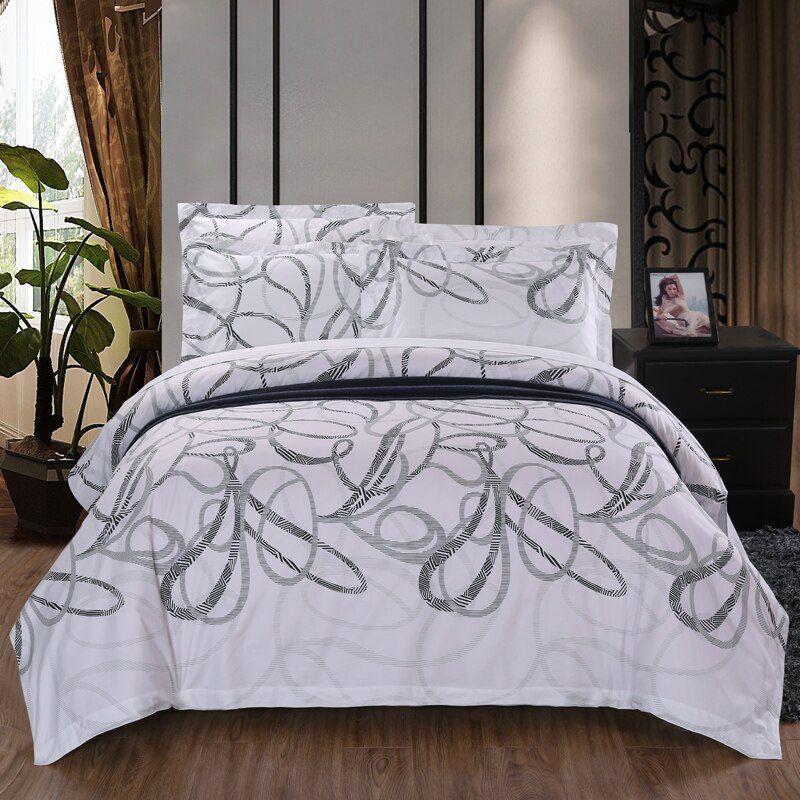 Bedding Set 100 Cotton Bed Linen Hotel White Feather Bed Sets Duvet Cover Sheet Pillowcase Edredon Ropa De Cama Ropa De Cama Cotton Bed Linenbed Set Aliexpr Duvet Bedding Sets Bedding Sets Cotton Bed Linen