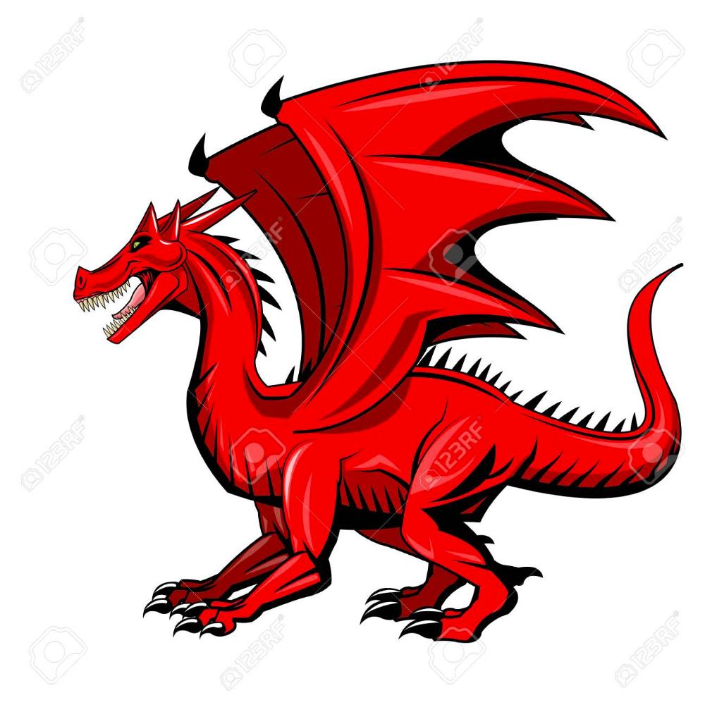 Red Dragon Cartoon Icon Over White Background Colorful Design Animal Icon Cartoon Icons Cartoon Animals