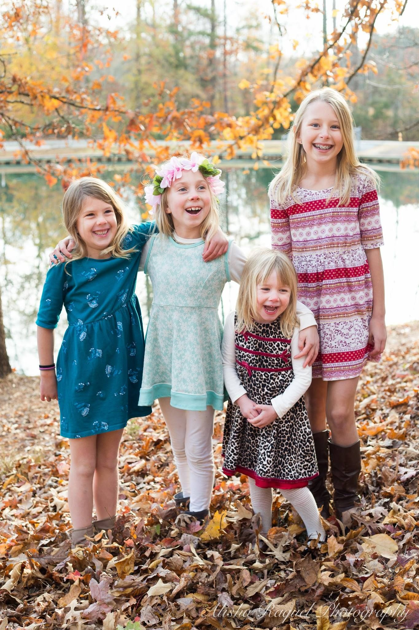 Fall Family Photo Inspiration Cousin Family Photo Fall Flower Crown