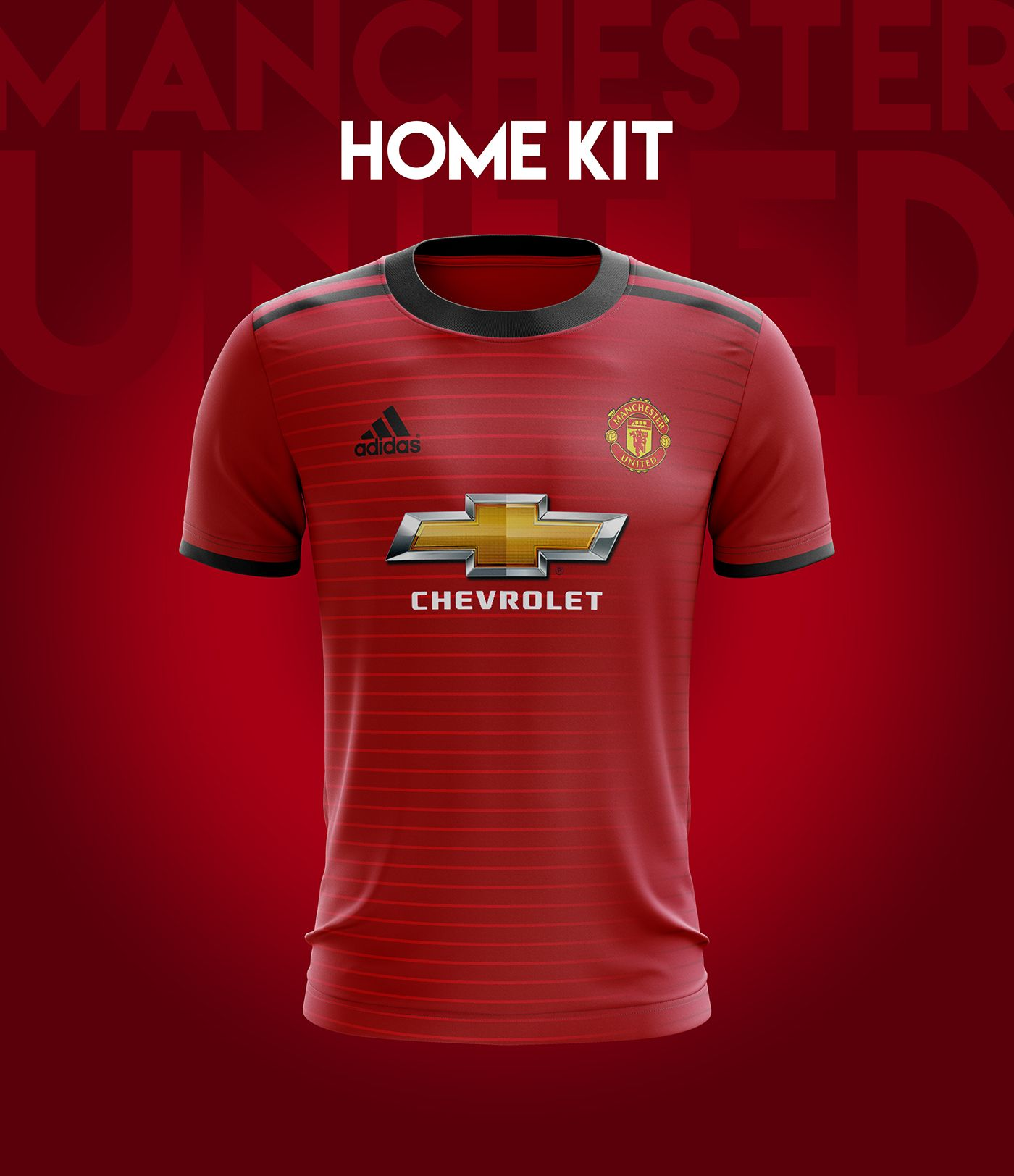 7812ad4ef I designed football kits for Manchester United for the upcoming season  18 19. And this is the result of how it would look like if i could design a  kit for ...