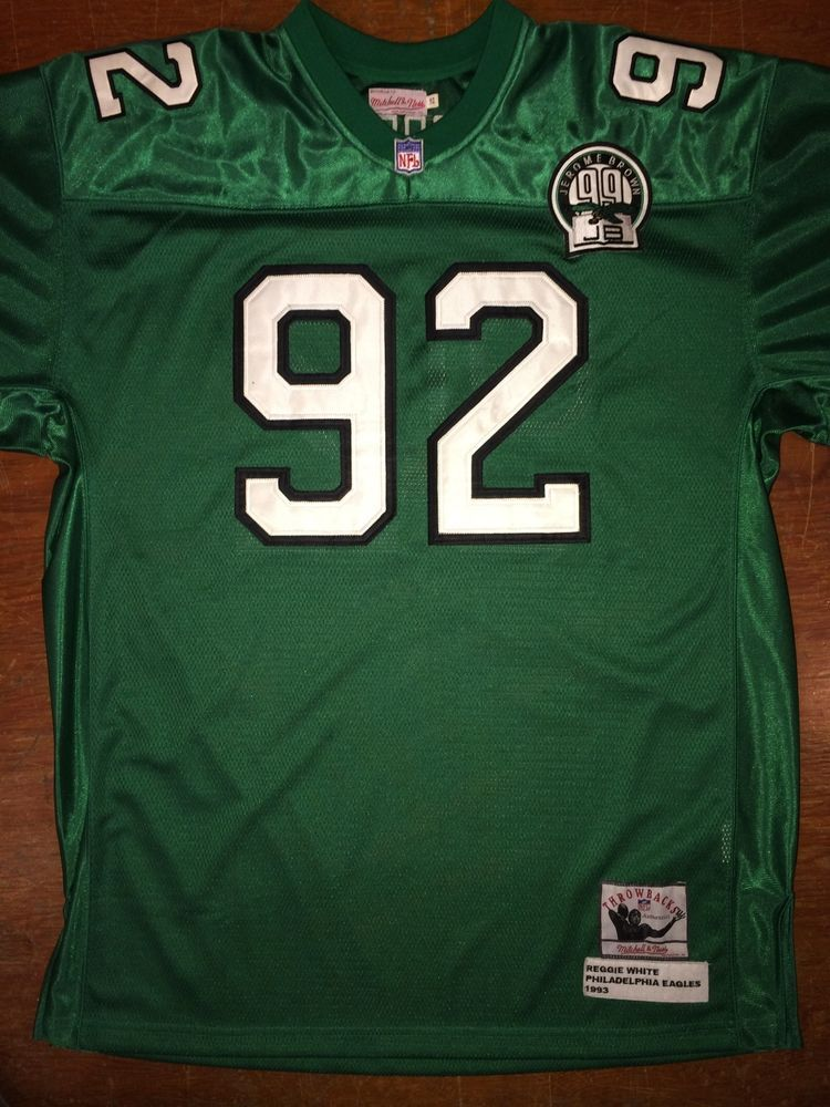8ed46dc8f REGGIE WHITE PHILADELPHIA EAGLES MITCHELL   NESS JERSEY JEROME BROWN ADULT  52  MitchellNess  PhiladelphiaEagles