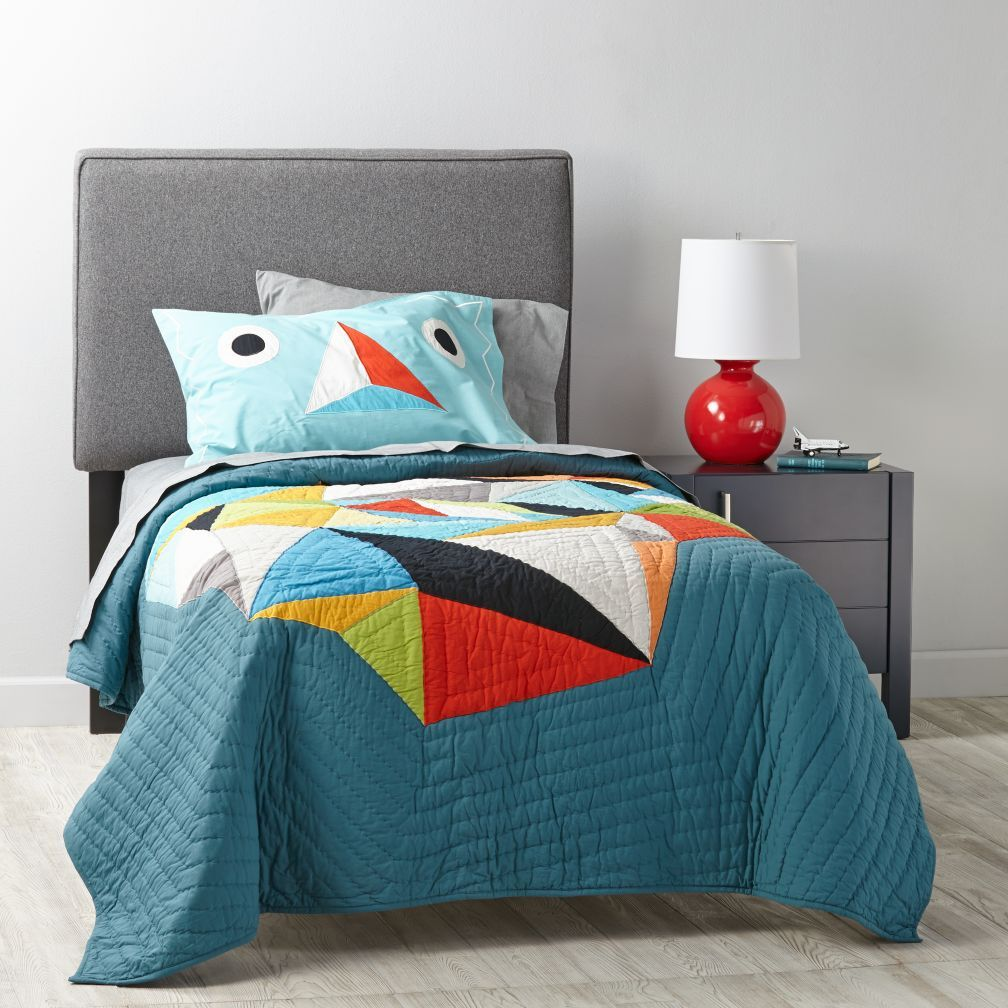 Upholstered Headboard (Solid Fabrics) The Land of Nod