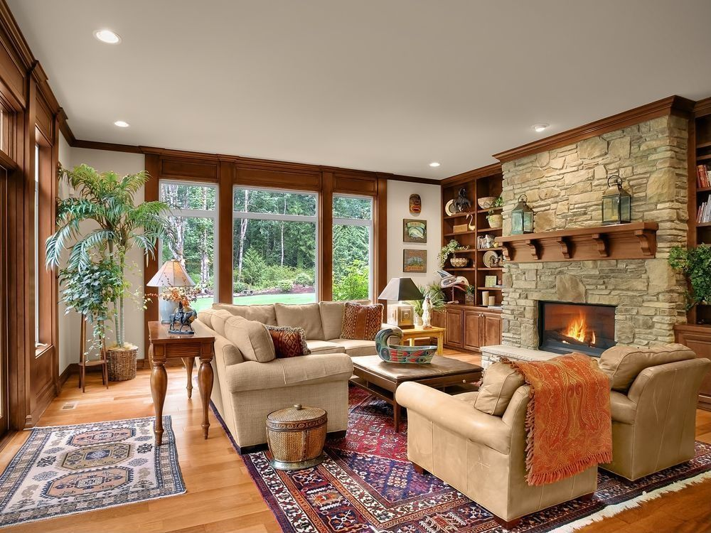 craftsman living room  found on zillow digs what do you