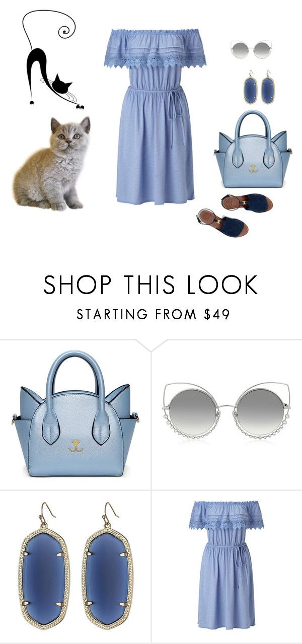 """""""Cat"""" by sarahguo ❤ liked on Polyvore featuring Marc Jacobs, Kendra Scott, Miss Selfridge and Tory Burch"""