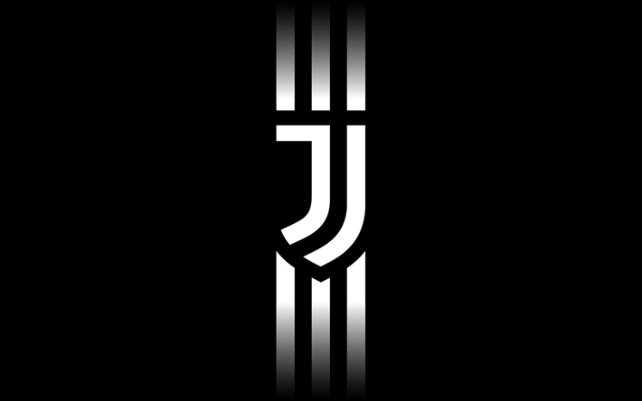 Download Wallpapers Juventus Minimal New Logo Black Background Juve Serie A New Juventus Logo Juve Soccer Juve Logo Besthqwallpapers Com Juventus Wallpapers Juventus New Juventus