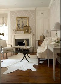 Willow Decor: Those White and Cream Cow Hide Rugs