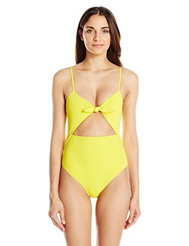 Mara Hoffman Womens Kia Tie Front One Piece Swimsuit