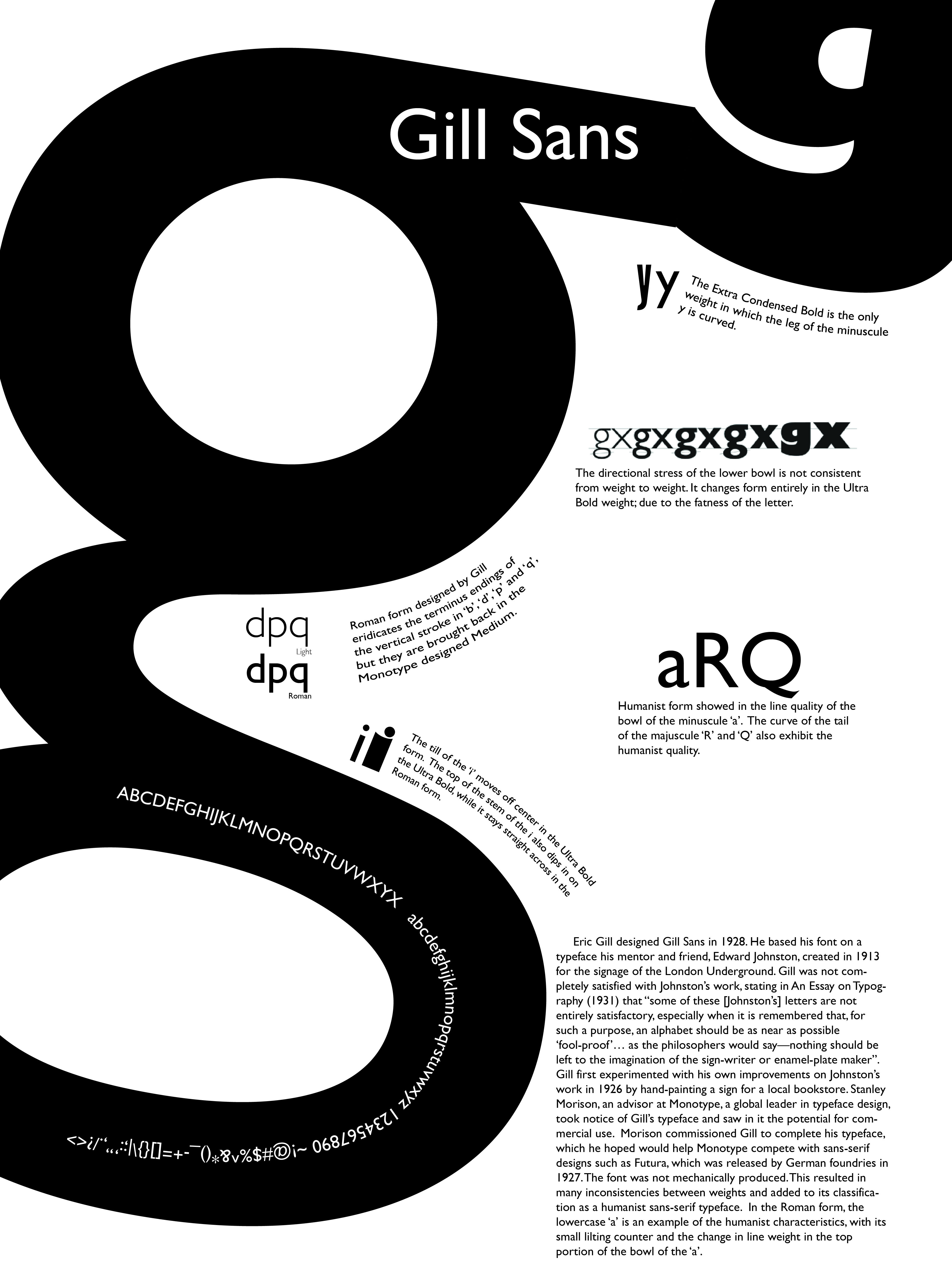 Eric Gill got it wrong; a re-evaluation of Gill Sans