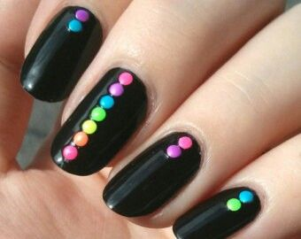 pinkaitlyn nickerson on nails  rainbow nail art