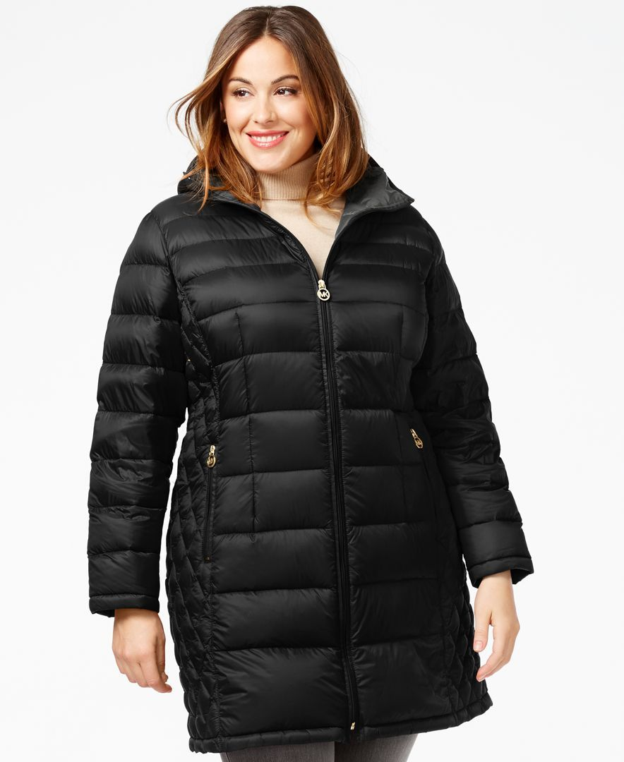 f83f041098bcc Michael Michael Kors Plus Size Packable Puffer Coat
