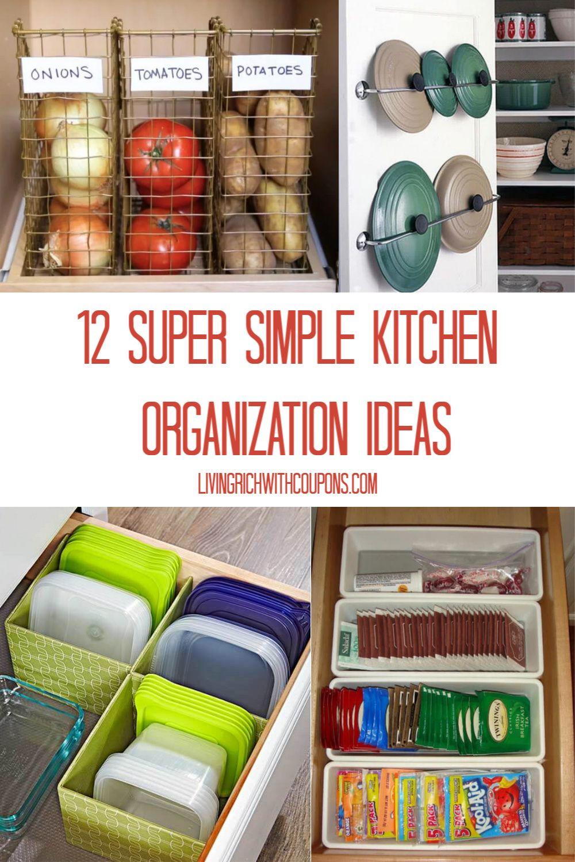 12 super simple kitchen organization ideas kitchen organization organization organization hacks on kitchen organization diy id=30308