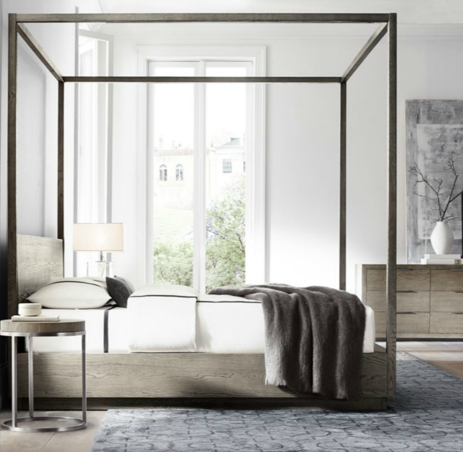 Restoration hardware bedroom - Restoration Hardware Modern Machinto Four Poster Bed Starting At 3695
