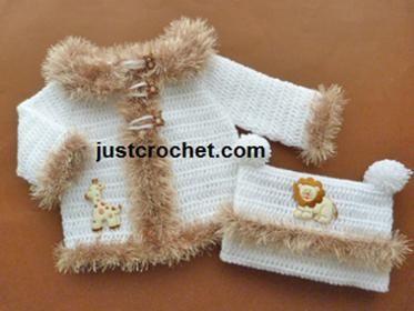 f8fb2ed2e0ca pfc236-Hooded jacket baby crochet pattern