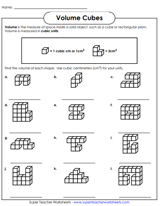 Volume Of Cubes Worksheets Volume Worksheets Super Teacher Worksheets Super Teacher