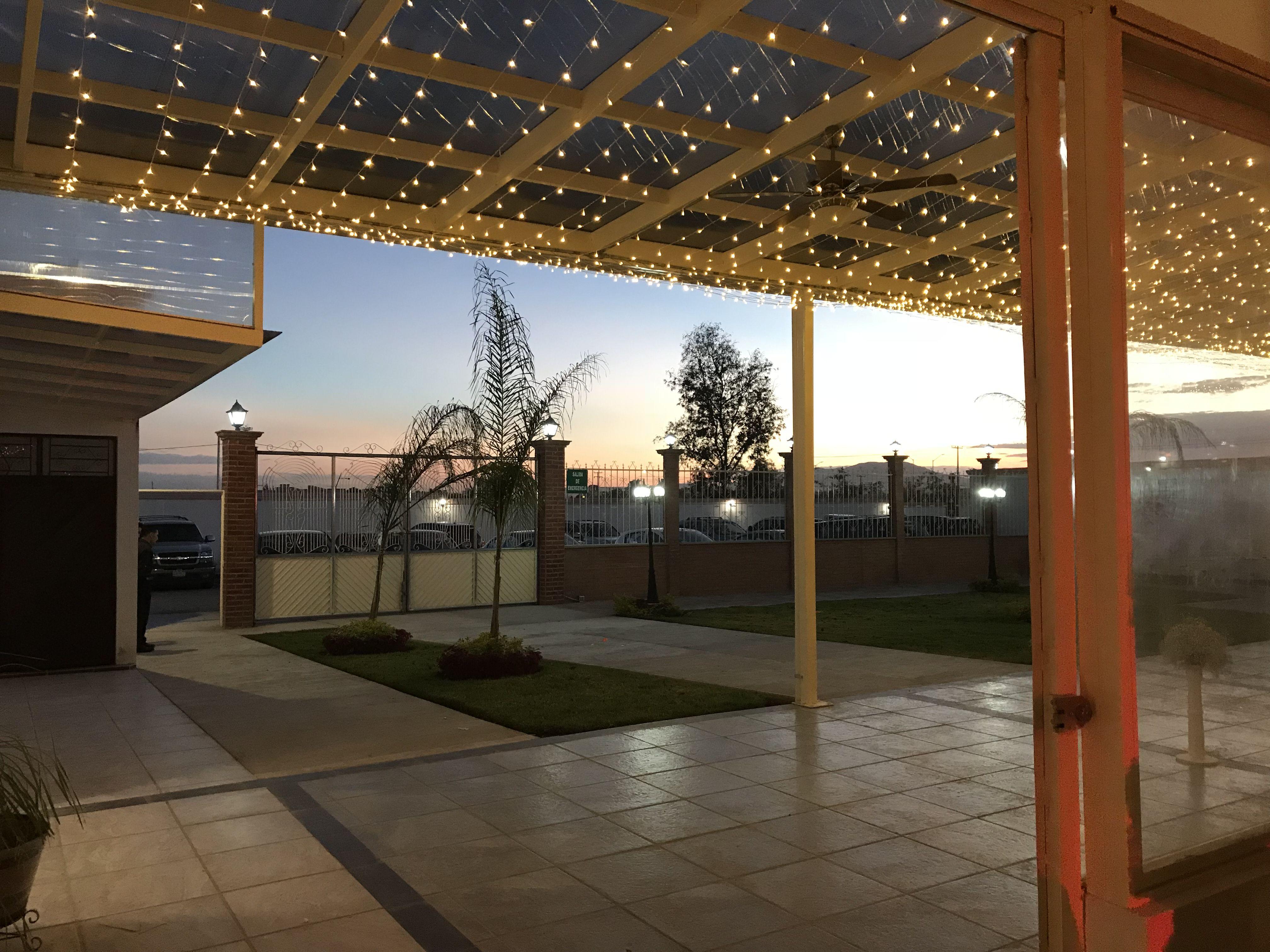 Atardecer Terraza Aranjuez Salón Eventos Luces