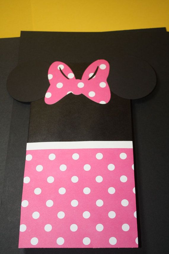 Mickey and/or minnie party favor bags by craftygio on Etsy, $12.00