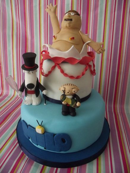 Excellent Family Guy Cake Novelty Cakes Cake Funny Birthday Cards Online Alyptdamsfinfo