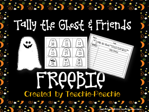 Tally The Ghost Halloween Freebie