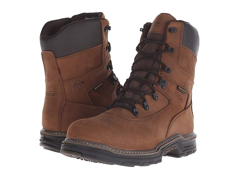 65fc4557419 Wolverine Marauder Multishoxtm Waterproof 8 Lace Up Men's Work Boots ...
