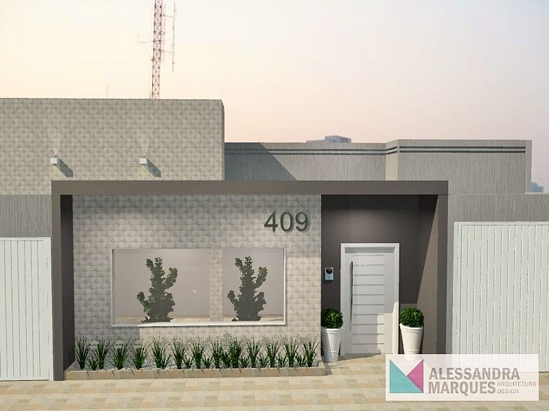 Fachada fechada de casas simples pesquisa google for Modelos de fachadas para casas