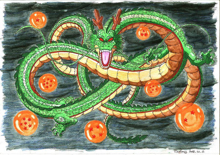 Csepeli Ildiko Megrendelesere Keszult 2012 01 13 An Kezi Rajz Eredeti Meret A3 Aquarell Ceruza Megrendelom Nagy Kedvence Shen Dragon Ball Shenron Dragon