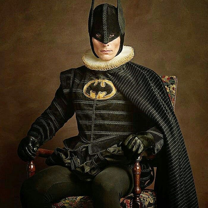 How would superheroes have looked in the 16th century renaissance period! French photographer Sacha Goldberger has created a quirky photo series that perfectly expresses the timeless quality of some of our favorite superheroes and villains – by re-imagining them as 16th-century Flemish portrait models.  Batman
