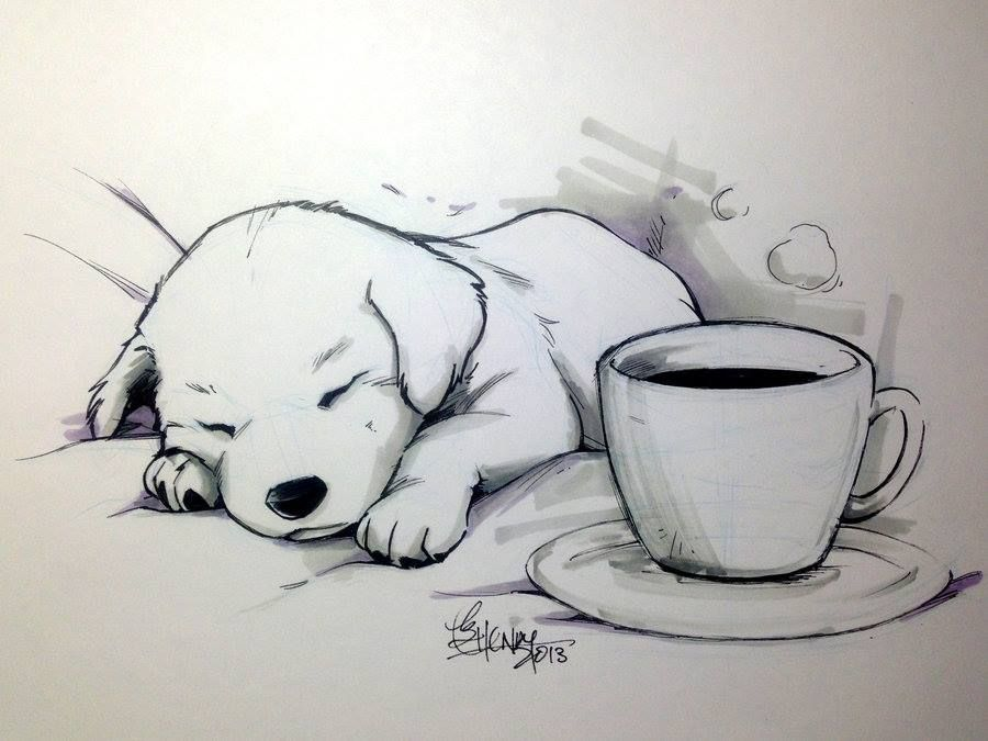 Easy Line Drawings Of Animals : Chien endormie cool stuff to do pinterest drawings sketches