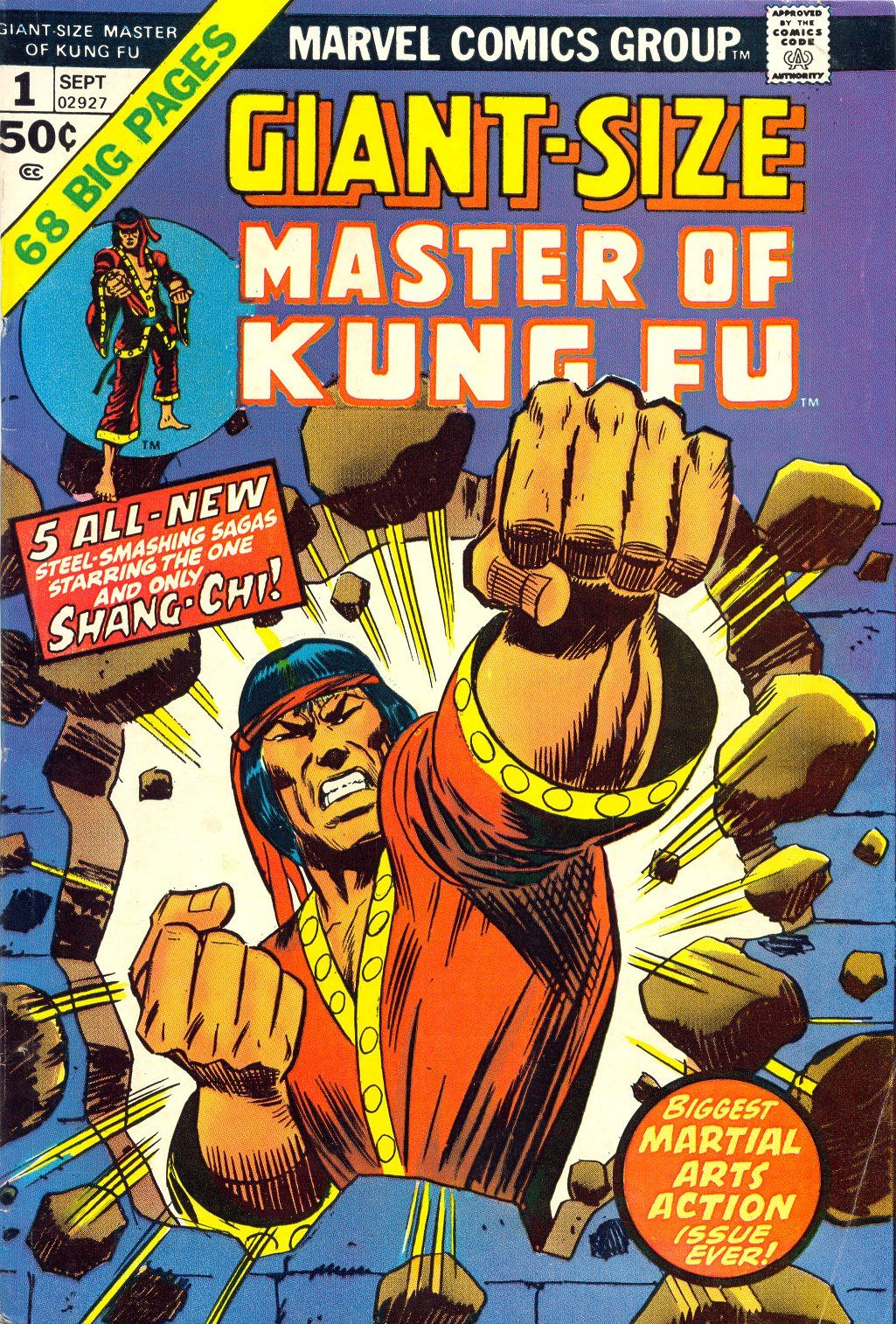 Giant Size Master Of Kung Fu #1,September 1974, Pencils: Ron Wilson, Inks: Mike Esposito