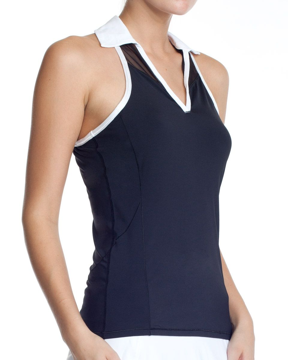 alo active wear TENNIS POLO TANK - http://AmericasMall.com/categories/activewear.html