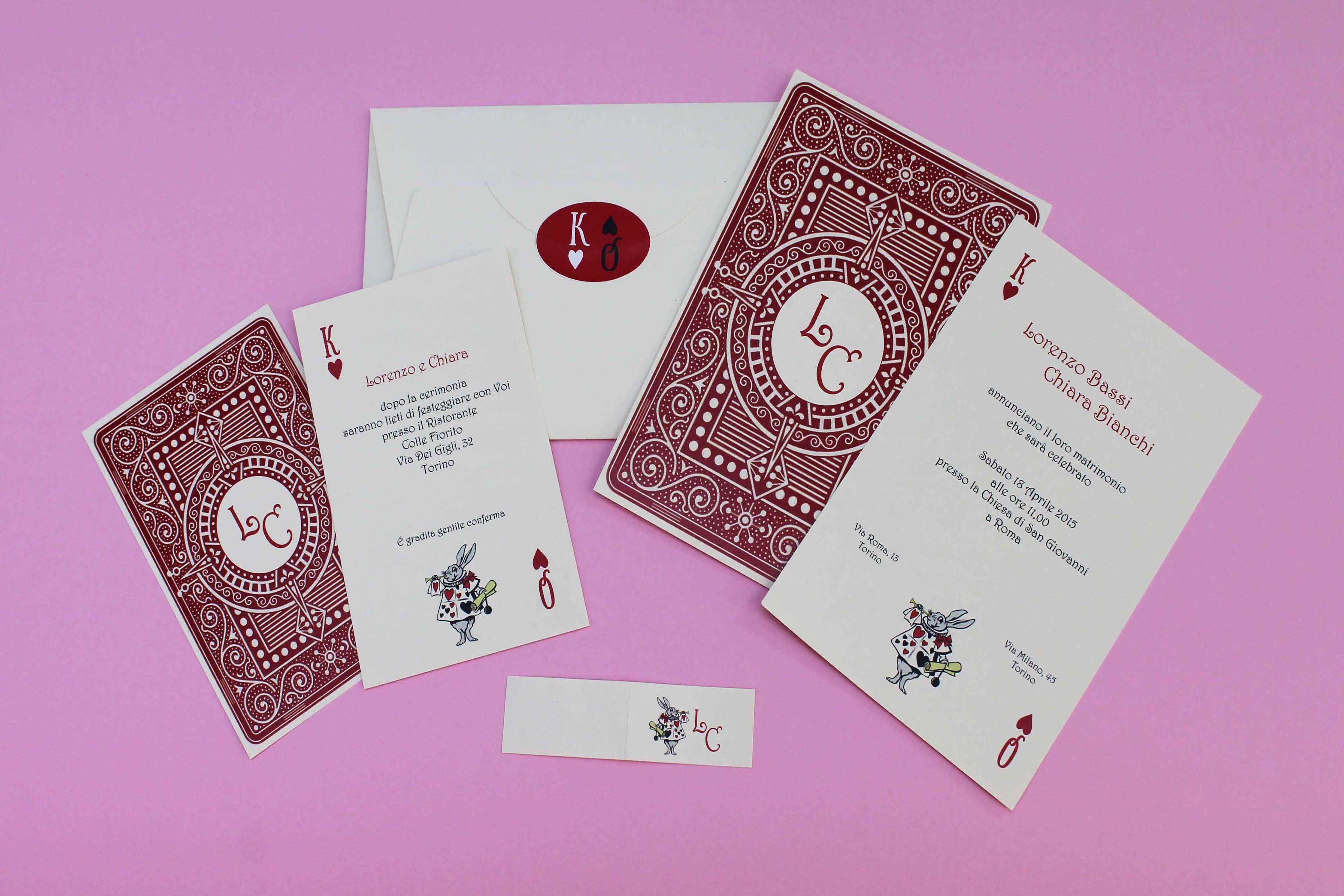 Partecipazioni Matrimonio Prezzi Bassi.Partecipazioni Nozze Art 192 Carta Da Gioco Carte Da Gioco