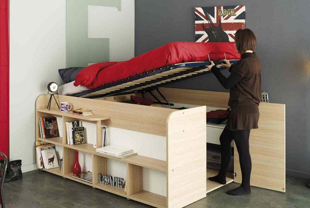 Parisot Space Up Bed Lifts Up For Spacious Storage Woodworking