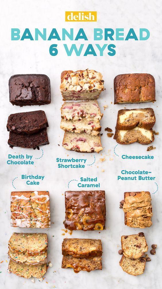 Banana Bread 6 Ways