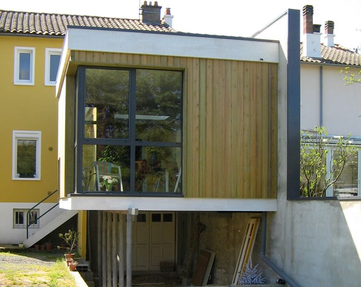 Extension contemporaine d 39 un pavillon sur sous sol for Extension pavillon