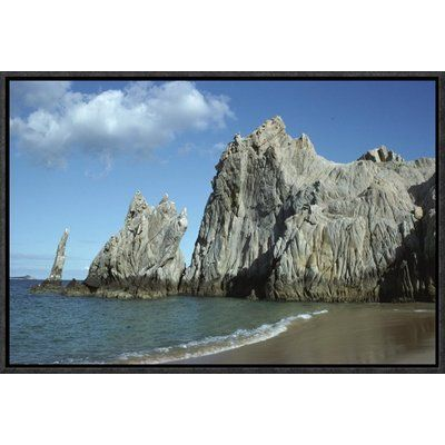 "East Urban Home 'Granite Outcrop, Cabo San Lucas, Baja California, Mexico' Photographic Print Size: 12"" H x 18"" W, Format: Black Framed"