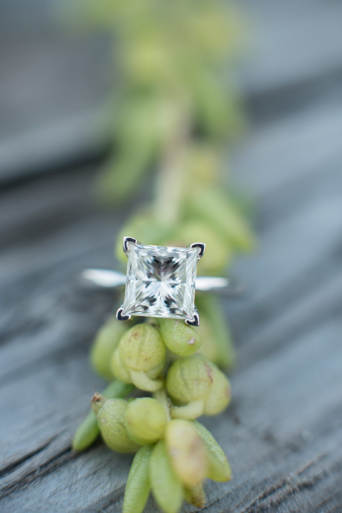 Classic princess cut solitaire engagement ring! This would look so perfect on any girl's right hand. <3