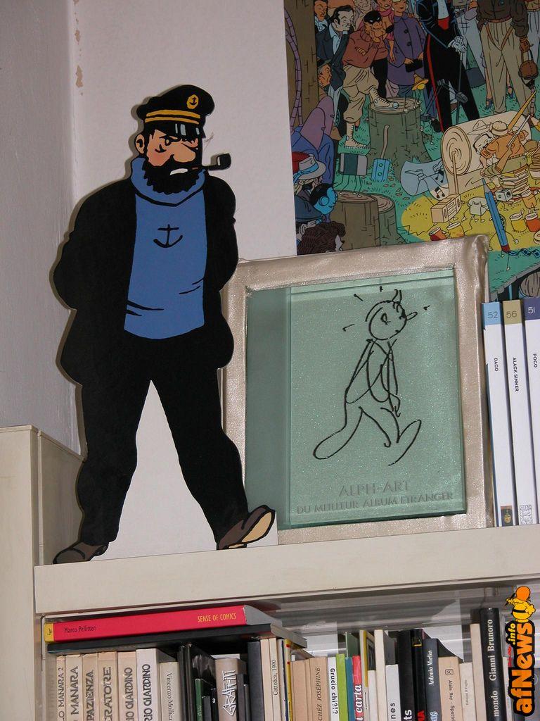 Haddock e Tintin premio AlphArt - http://www.afnews.info/wordpress/2016/05/08/haddock-e-tintin-premio-alphart/