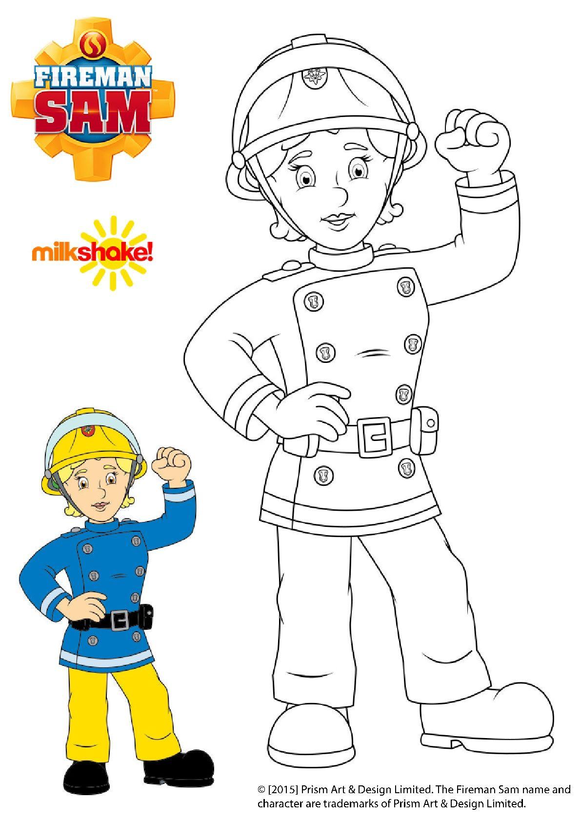 Pin Van Anna Symeonidou Op Raskraski Po Cifram Brandweerman Kind Knutselen Brandweer