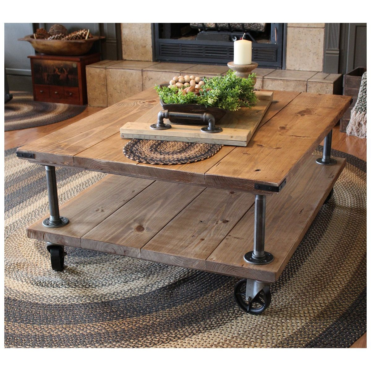 Farmhouse Industrial Coffee Table Industrial Iron and Wood