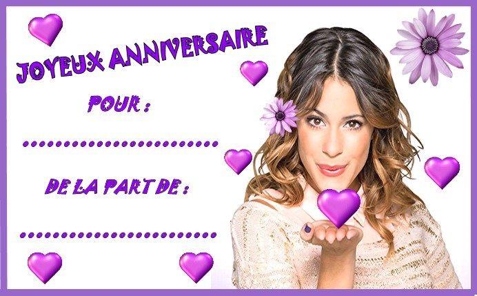 Etiquettes invitations Violetta pour anniversaire   Activité anniversaire, Carte invitation ...