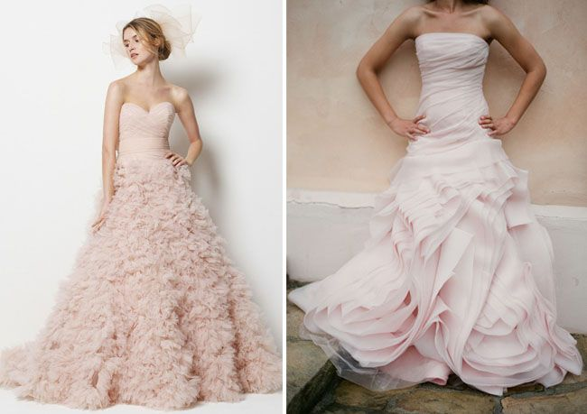 Wedding Dresses With A Touch Of Color Pink Wedding Dresses Pink Wedding Gowns Wedding Dresses Blush
