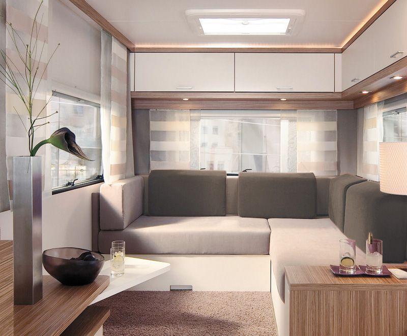 a modern trailer interior trailers and caravans pinterest wohnwagen. Black Bedroom Furniture Sets. Home Design Ideas