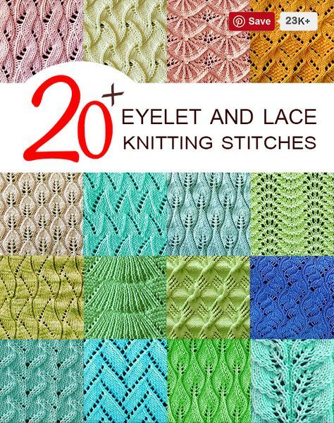 20 Featured Eyelet and Lace Stitches - Knitting Stitches ...