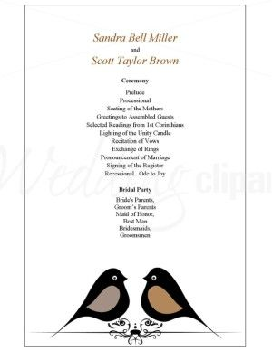 1000+ images about Wedding Program Styles on Pinterest | Modern ...