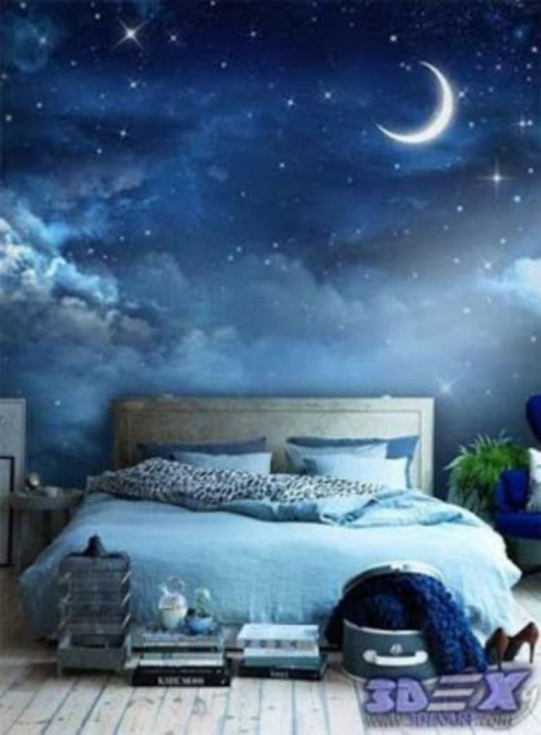 35 Top 3d Wall Paint Design Ideas Home Bedroom Blue Rooms Home