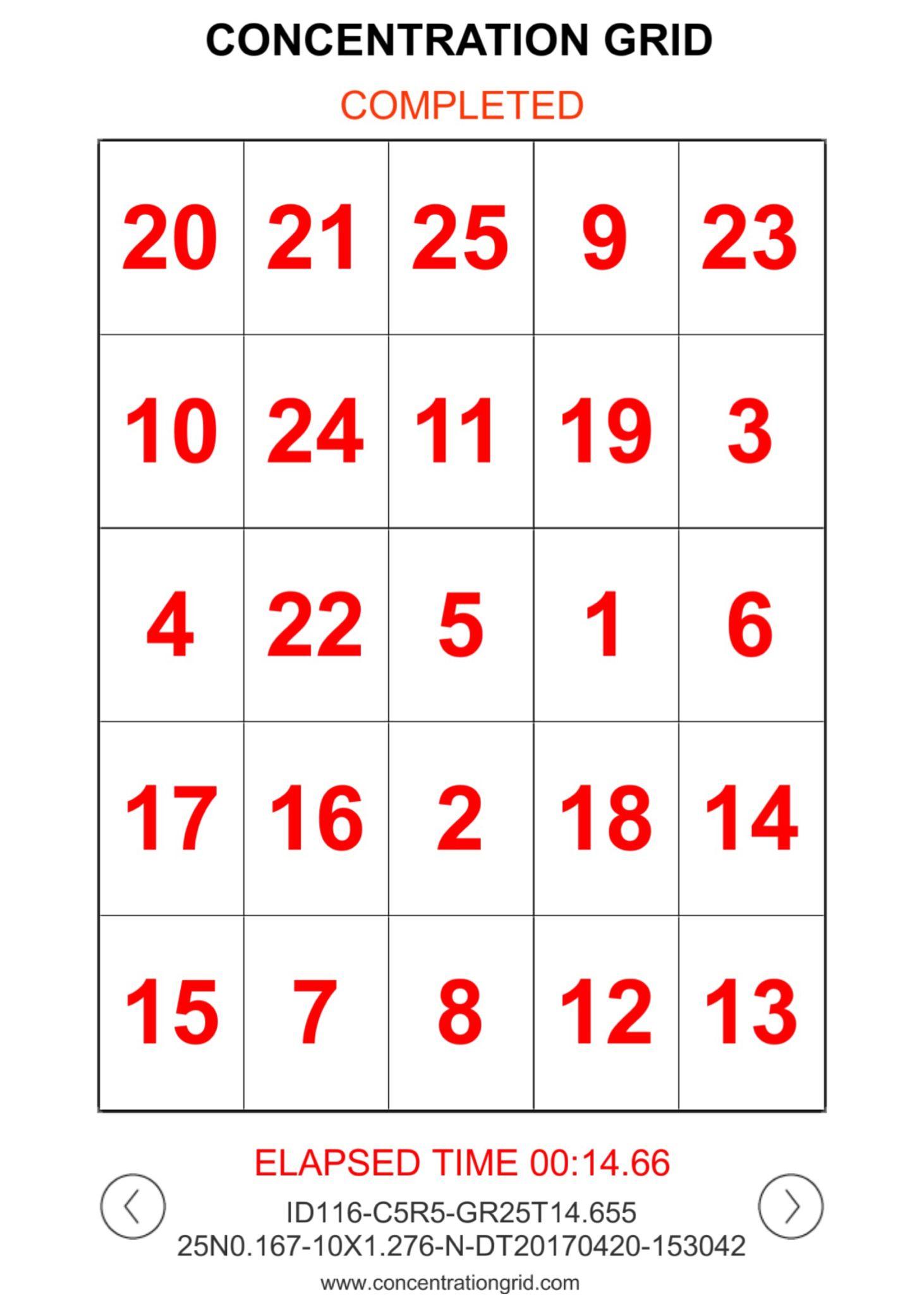 Concentration grid mental skills training app apple