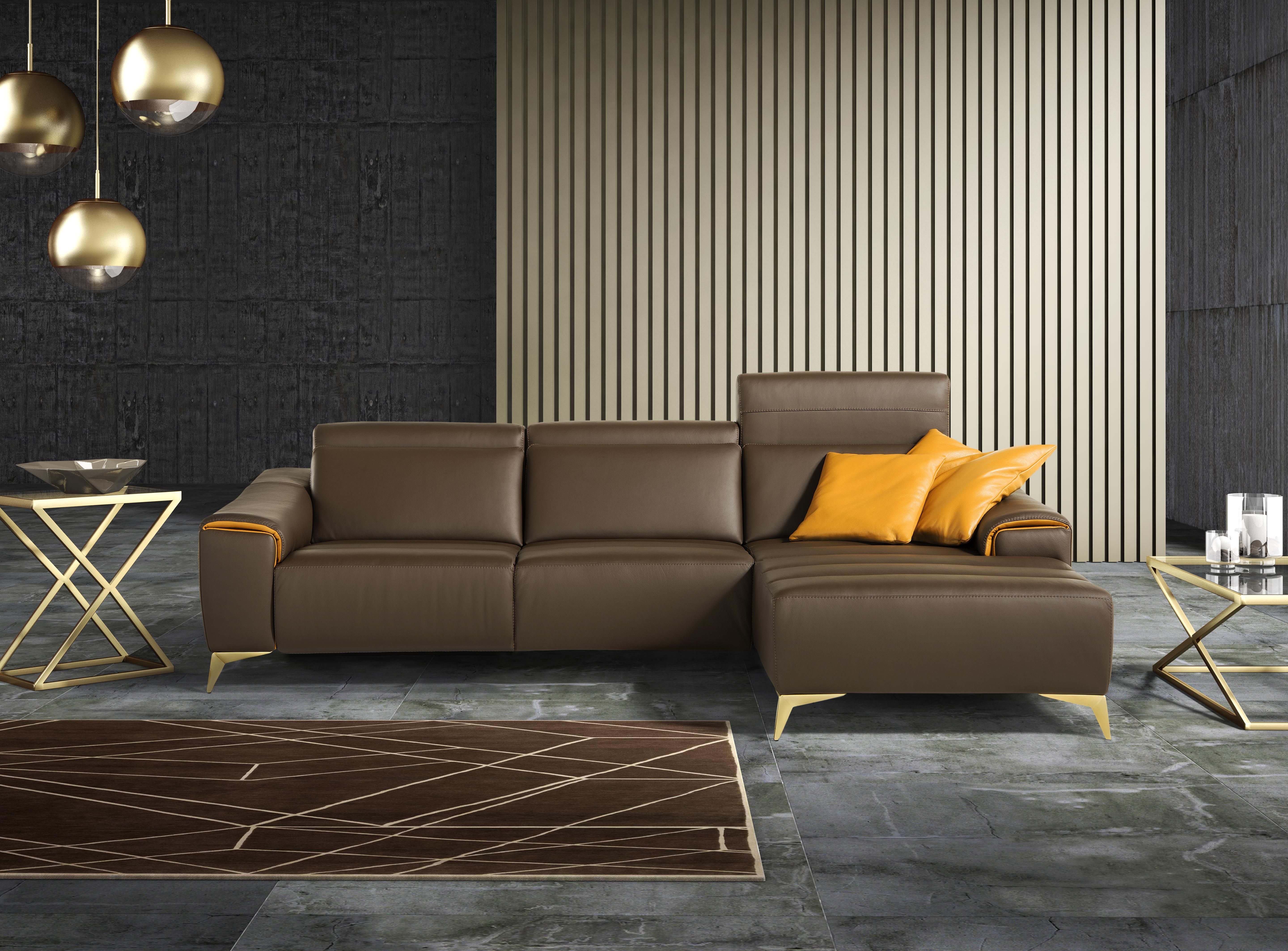 Sectional sofa with chaise longue suzette by egoitaliano for Campsis chaise sectional
